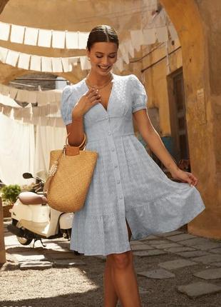 Голубое платье прошва