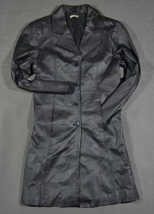 Кожаное пальто clockhouse (от c&a)