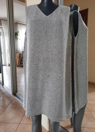 Симпатичное котоново-вискозное платье 👗майка большого размера