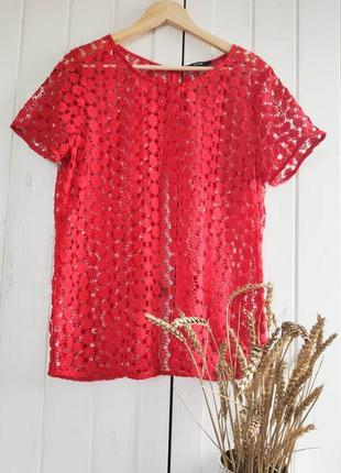 Классная ажурная блуза от george, размер xxl