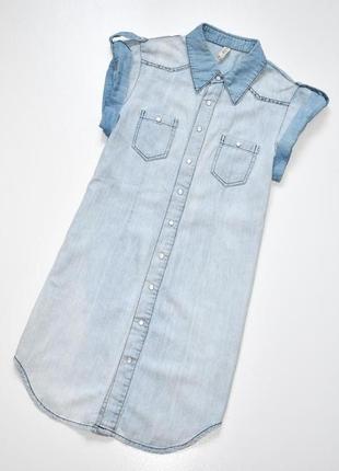 Denimco стильное джинсовое платье из светлого денима