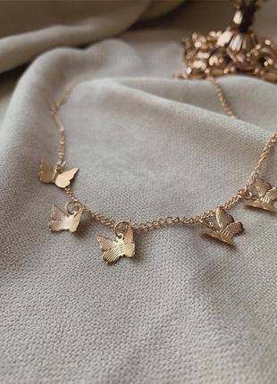 Ожерелье с бабочкам