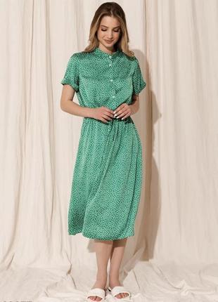 Шёлковое платье в горох