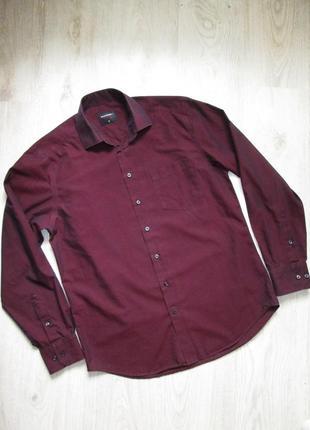 Мужская рубашка хамелеон бордово-фиолетовая. пог 55 см. westbury c&a 39