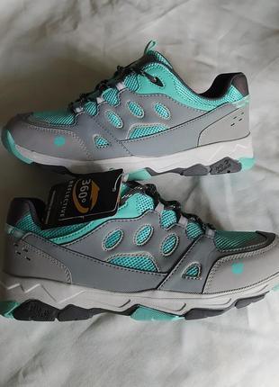 Новые женские кроссовки полуботинки jack wolfskin trekking reflective  светоотражающие оригинал