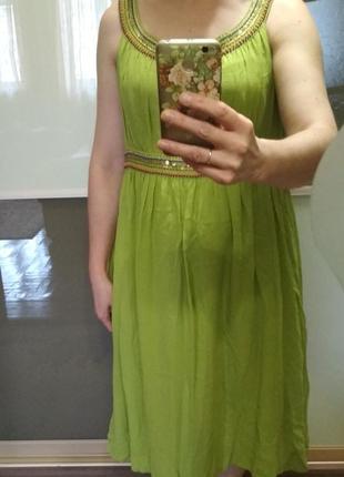 Плаття шовк з паєтками