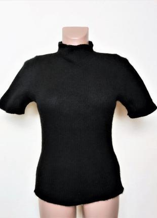 Кашемировый свитер короткий рукав sud express /3514/