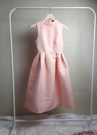 Пышное платье нежного цвета розовое лето вечернее  на праздник