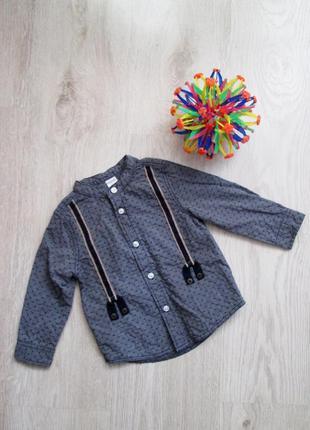 Рубашка на мальчика baby club, 80 cм. 1-1,5 года