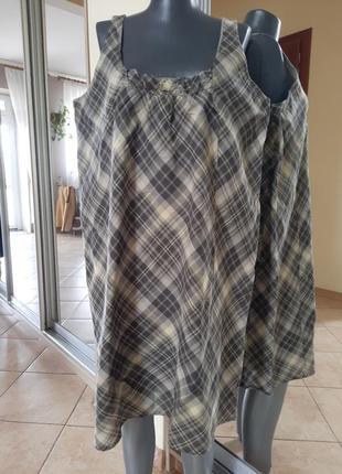 Легусенькое 💯%котоновое платье 👗большого размера