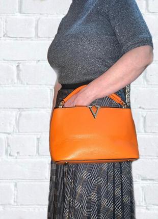 Сумка оранжевая сумка через плече яркая сумка