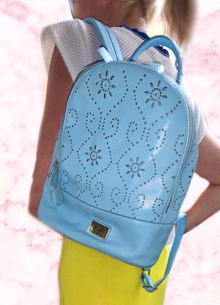 Рюкзак голубой яркий рюкзак летний рюкзак