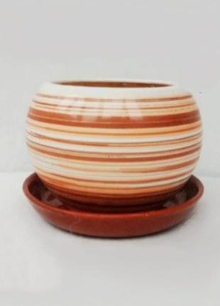 Керамический вазон горшок для цветов.
