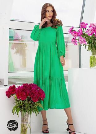 Ярусна сукня з об'ємними рукавами