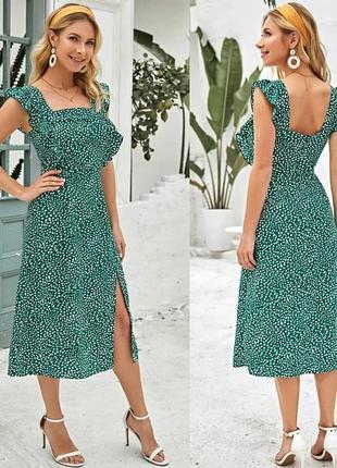 Платье в цветочный принт shein