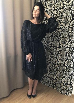 Плаття сукня george 2xl/xl чорне шифон