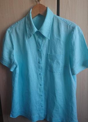 Льняная женская рубашка .betty barclay. 100%лён.