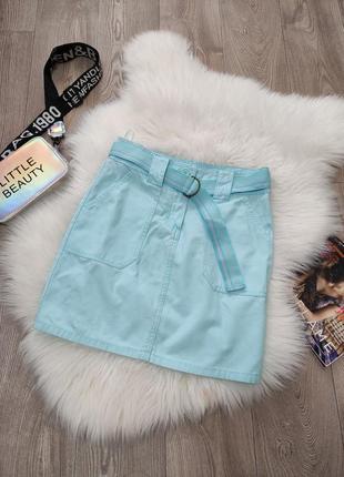Женская хб джинсовая юбка натуральная