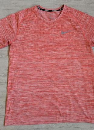 Тренировочная футболка беговая nike dri-fit большой размер