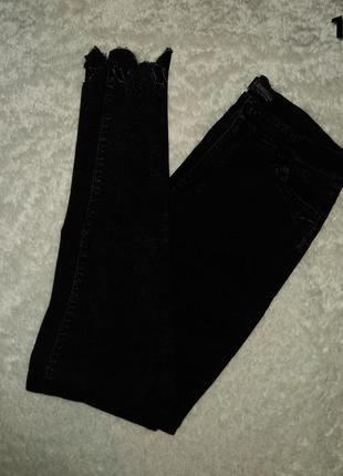 Джеггинсы тёмно-серые джинсы