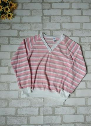 Кофта пуловер женский bhs розовый в полоску