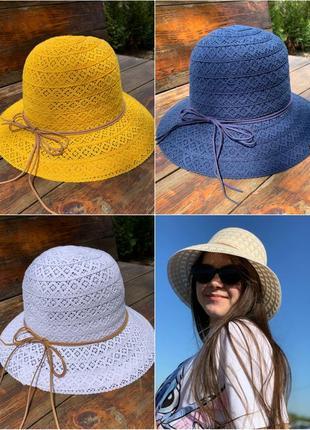 Круживна літня шляпка ,дуже мила і стильна
