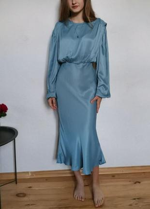 Шёлковое платье на выпускной, праздник