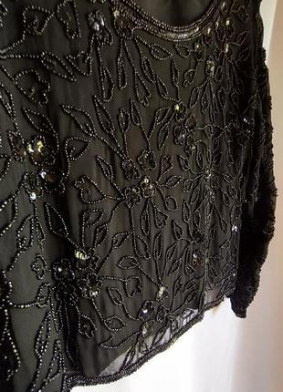 Блуза вышытая бисером размер 40