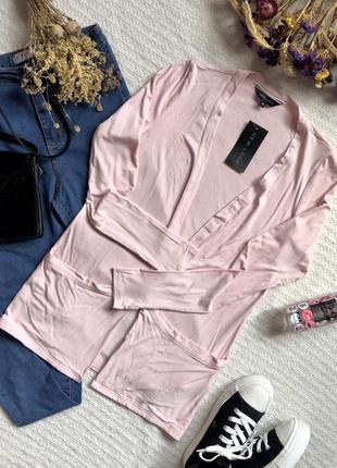 Новая летняя кофта прямого кроя нежно-розового цвета