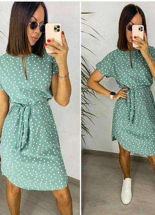 В наличии!!! женское платье в горошек.