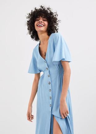 🌿 бомбезное, джинсовое платье от zara