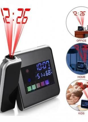 Настольные часы с проектором color screen calendar ds-8190
