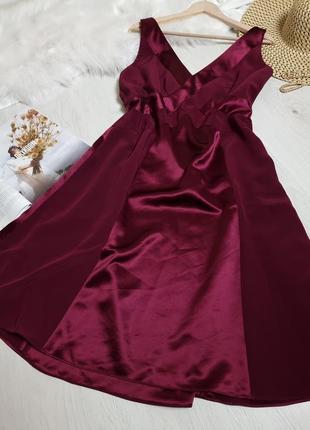 Вечернее платье бордовое красное большого размера