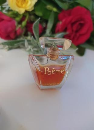 Poeme lancome,  винтажная миниатюра, парфюмированная вода, 4 мл