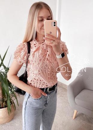 Блуза кружево