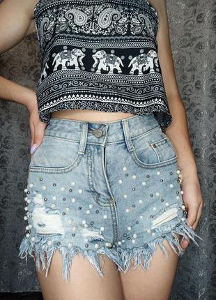 Шорти короткі шорты короткие джинсові джинсовые