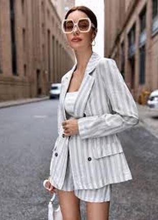 Лён пиджак жакет блейзер молочного цвета