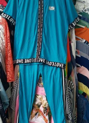 Женский трикотажный костюм турция двойка костюм-двойка dolares жемчуг трикотаж хлопок натуральный туреччина жіночий спортивний 52 54 56 58 60 62 64