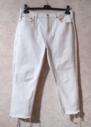 Трендовые белые плотные джинсы topshop, 34-35, xxl
