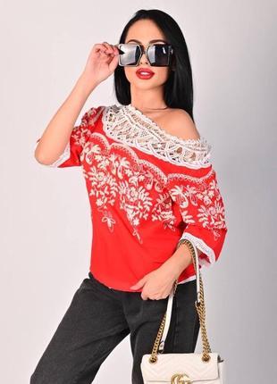 Блузка в стиле вышиванки