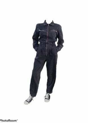 Mango original шикарный джинсовый комбенизон со штанами комбінезон зі штанами