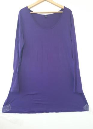 Вискоза. фиолетовая туника.06