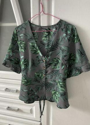 Блуза в пальмовый принт