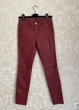 Massimo dutti джинсы бордовые проваксованые