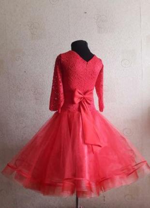 Платье для спортивно бальных танцев стандарт бейсик 134-146см