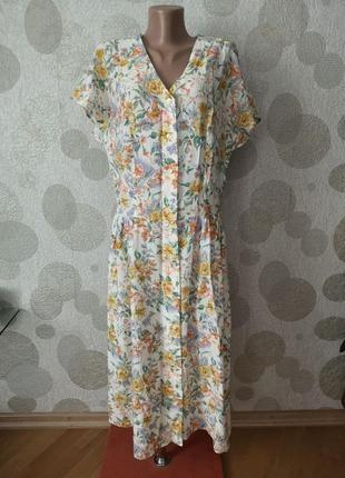Винтажное платье  на пуговицах