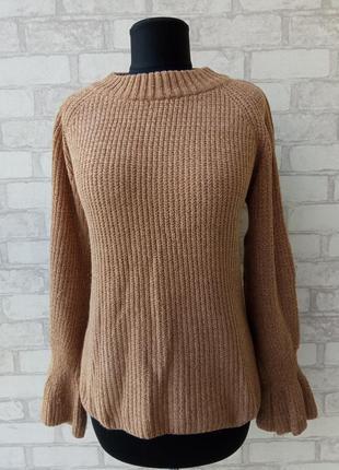 Оригинальный плюшевый свитер из велюровой нити