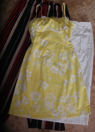Чудесный летний  сарафан платье на бретелях amisu хлопок эластан