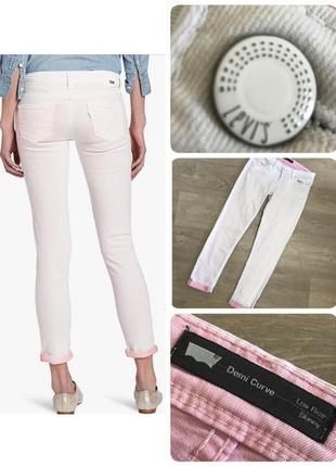 🍀бело розовые крутые джинсы levis, p.28
