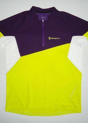 Велофутболка велоджерси scott mtb jersey (l)